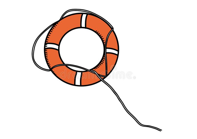 lifebuoy Conservateur de ma?tre nageur illustration stock