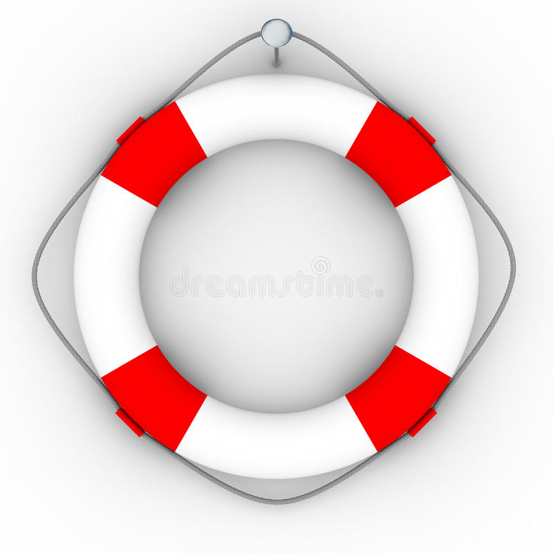Download Lifebuoy Em Um Fundo Branco Ilustração Stock - Ilustração de anel, disastre: 10065647