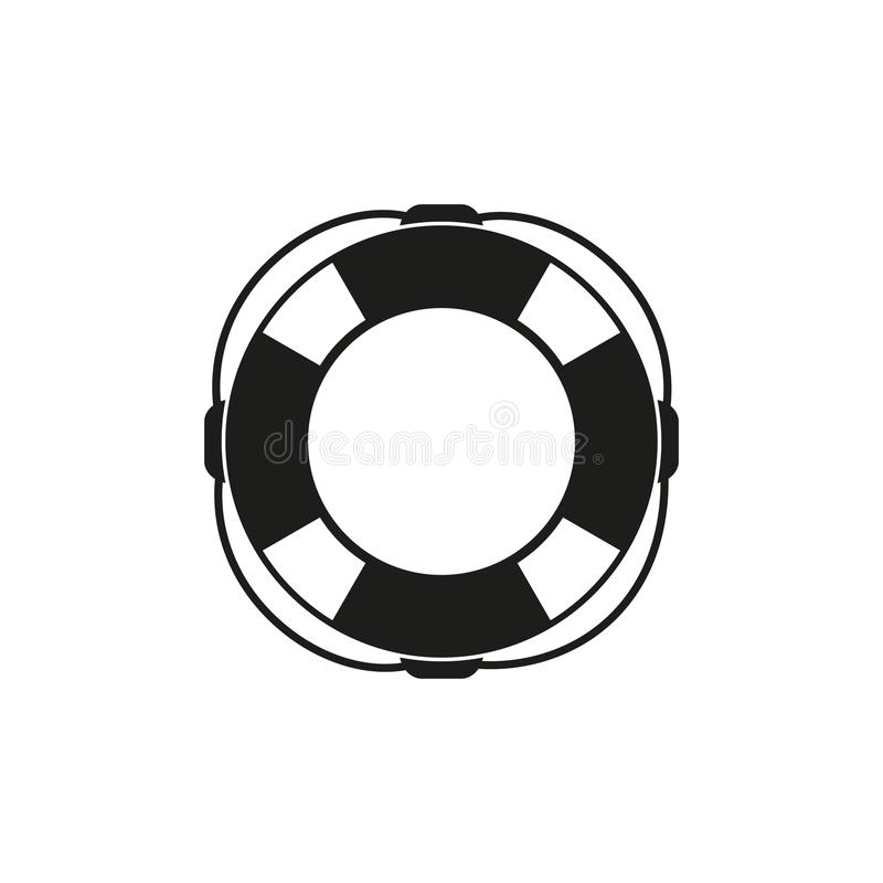 Lifebuoy of icon. On the white background stock illustration