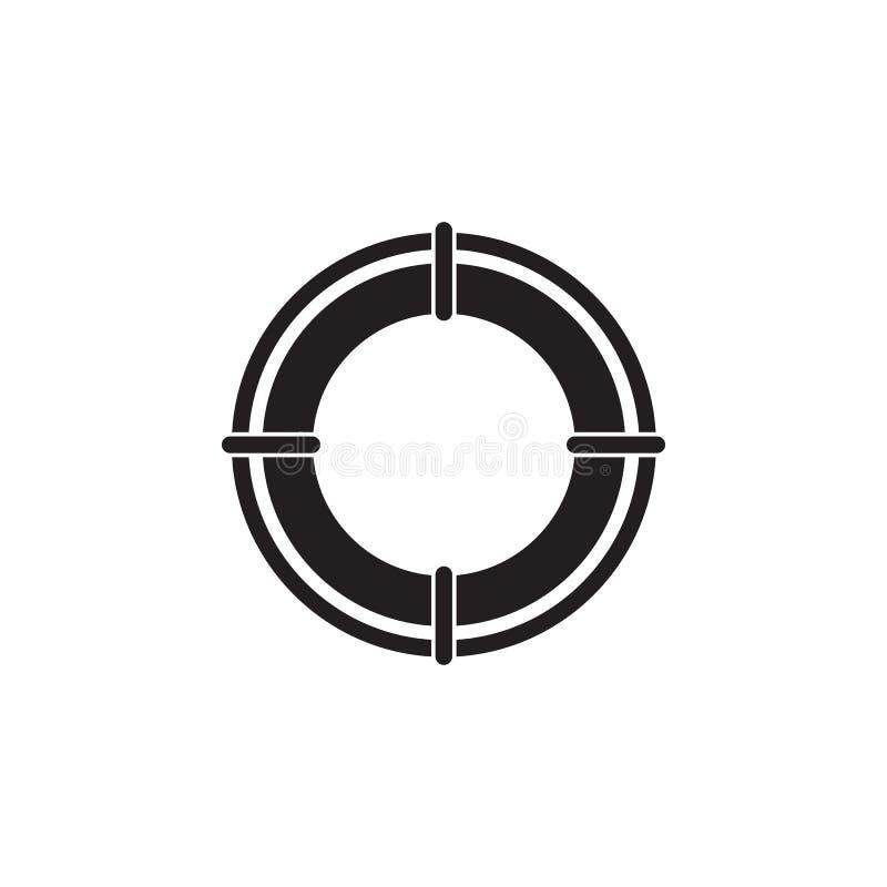Lifebuoy Ikone Element der Schiffsillustration Erstklassige Qualitätsgrafikdesignikone Zeichen und Symbolsammlungsikone für Websi lizenzfreie abbildung