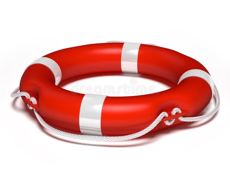 Lifebuoy. Isolated on white background royalty free illustration