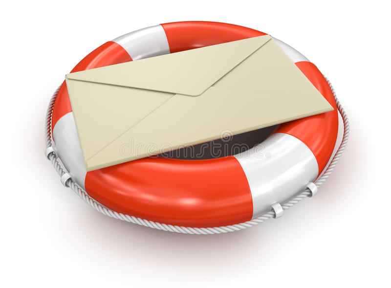 Download Lifebuoy And Letter (clipping Path Included) Stock Illustration - Image: 34005973