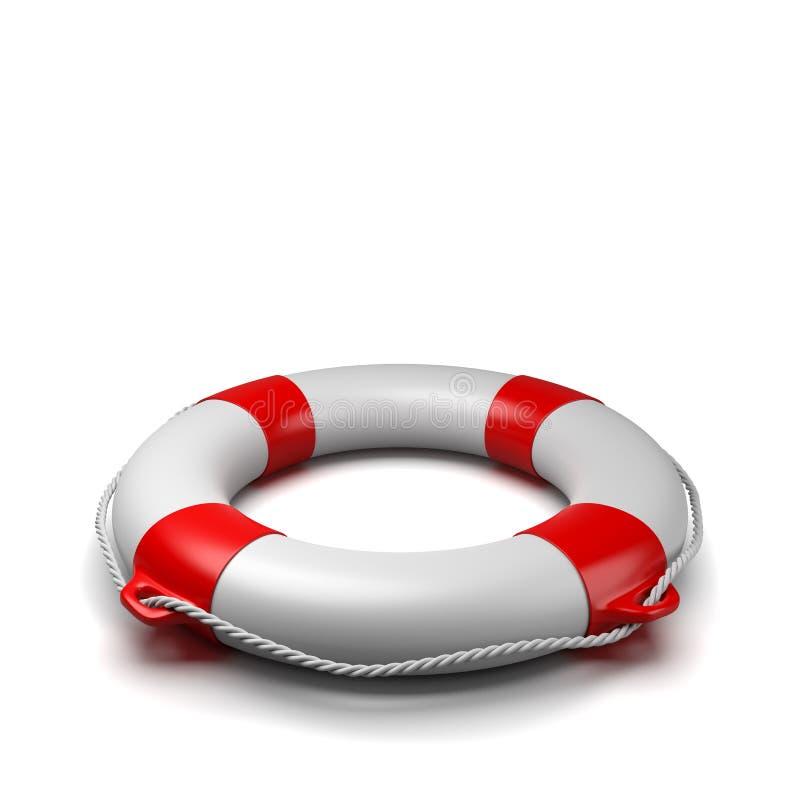 Lifebuoy na białym tle ilustracja wektor