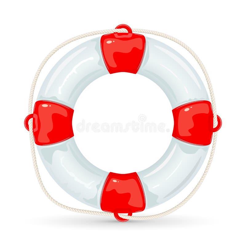 Lifebuoy na białym tle royalty ilustracja