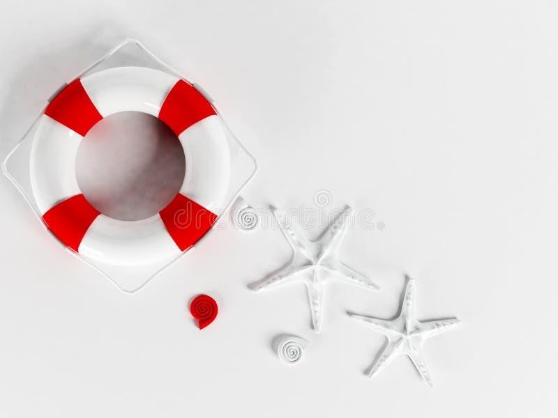 Download Lifebuoy na bielu ilustracji. Ilustracja złożonej z fitness - 41955613