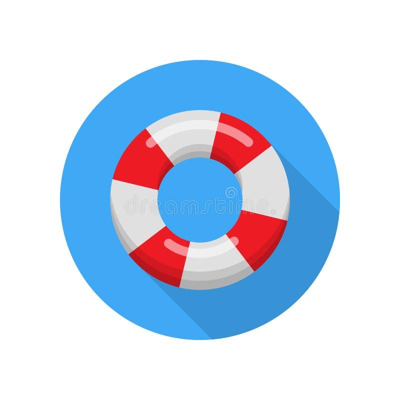 Lifebuoy odizolowywał na białym tle ilustracja wektor