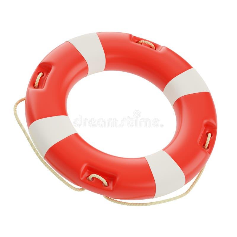 Lifebuoy odizolowywał na bielu ilustracja wektor