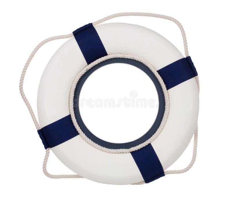 Lifebuoy, odizolowywający na bielu zdjęcie stock