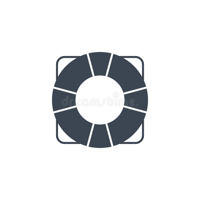 Lifebuoy related vector glyph icon. Isolated on white background. Vector illustration stock illustration