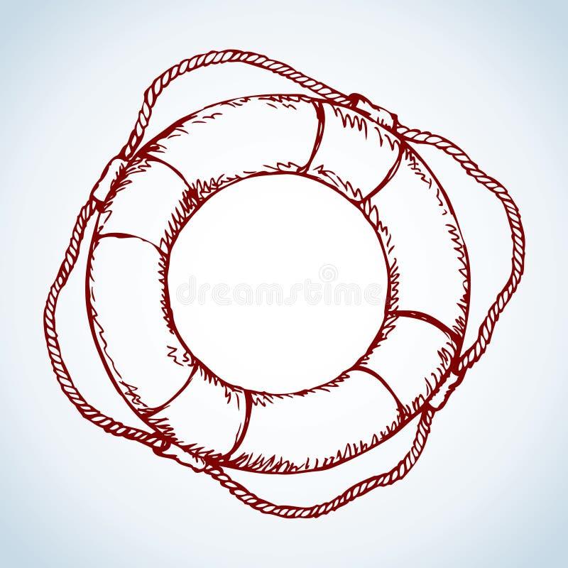 lifebuoy Retrait de vecteur illustration libre de droits