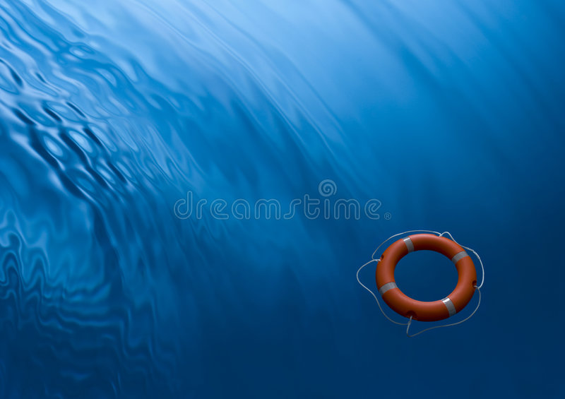 Lifebuoy Ring Waves Water Business Insurance Psychology Background royalty free stock photos