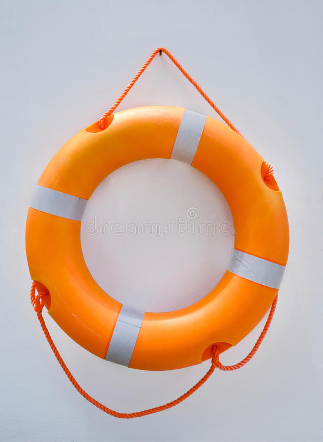 Lifebuoy ring. On the wall royalty free stock image