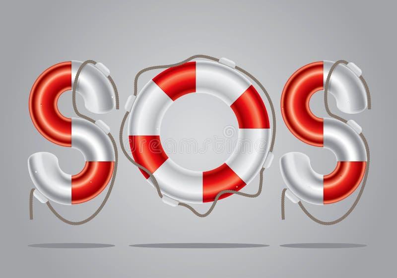 lifebuoy set 2 stock illustrationer