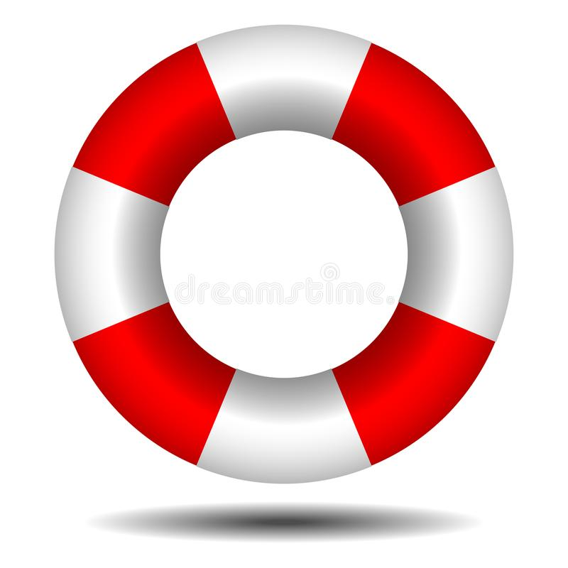 Lifebuoy with shadow. On white background stock illustration