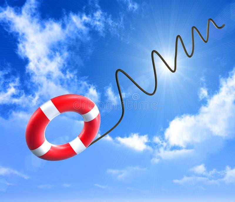 Lifebuoy sicherer stock abbildung