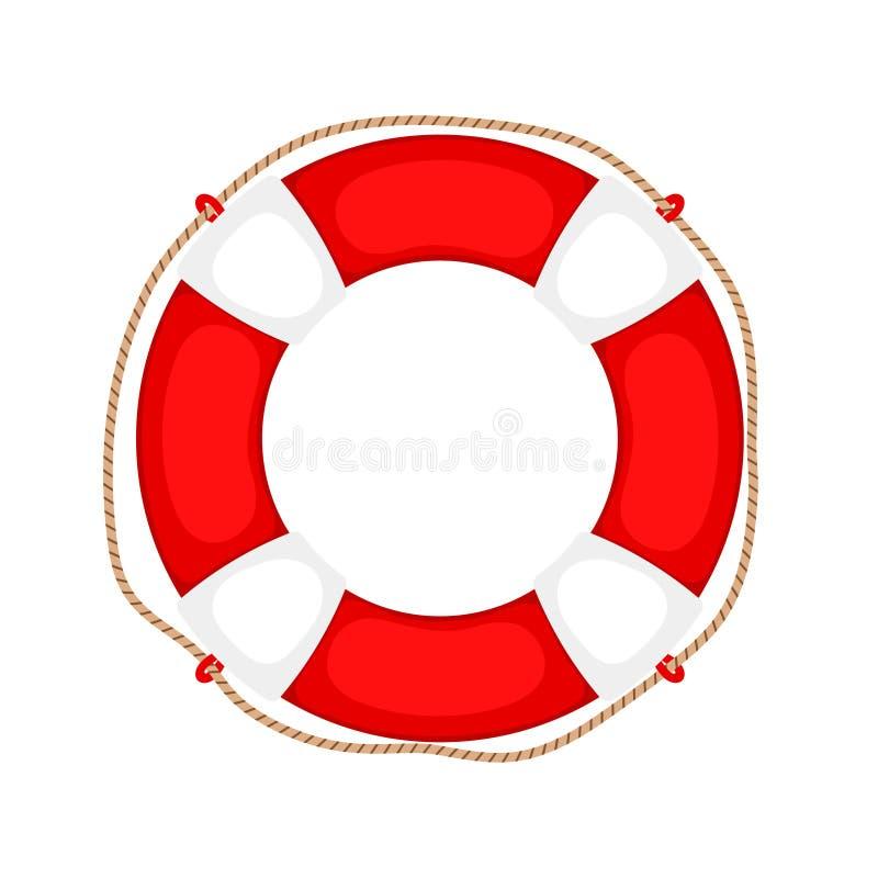 Lifebuoy sur le blanc illustration de vecteur