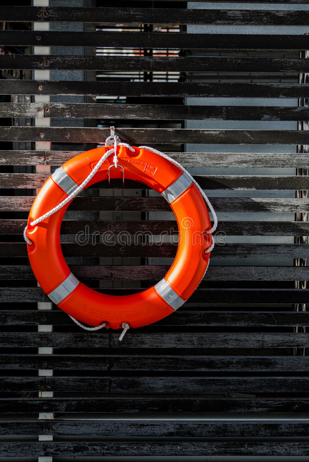 Lifebuoy w porcie obraz royalty free