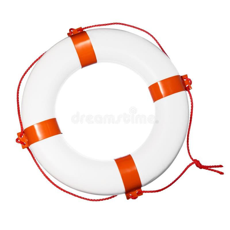 Lifebuoy on white