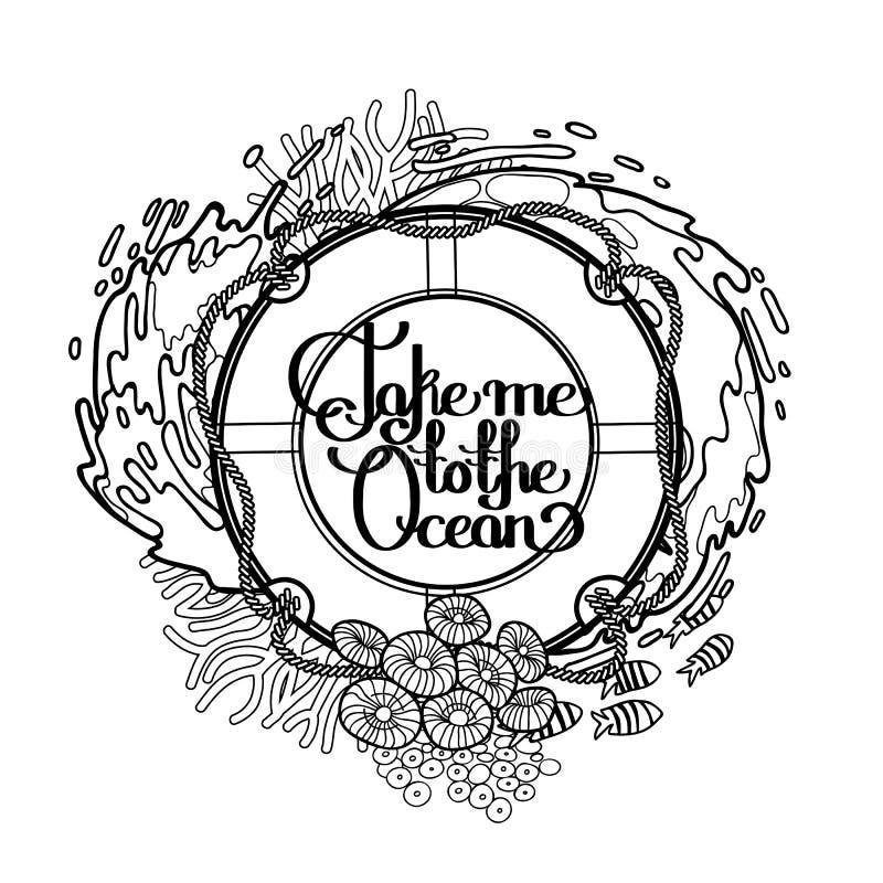 Lifebuoy z oceanu projektem ilustracji