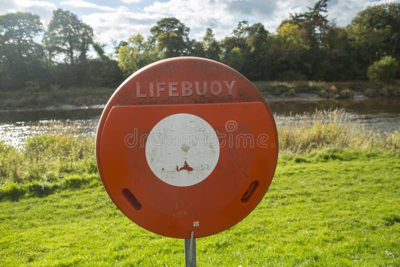 Lifebuoy znak obraz stock