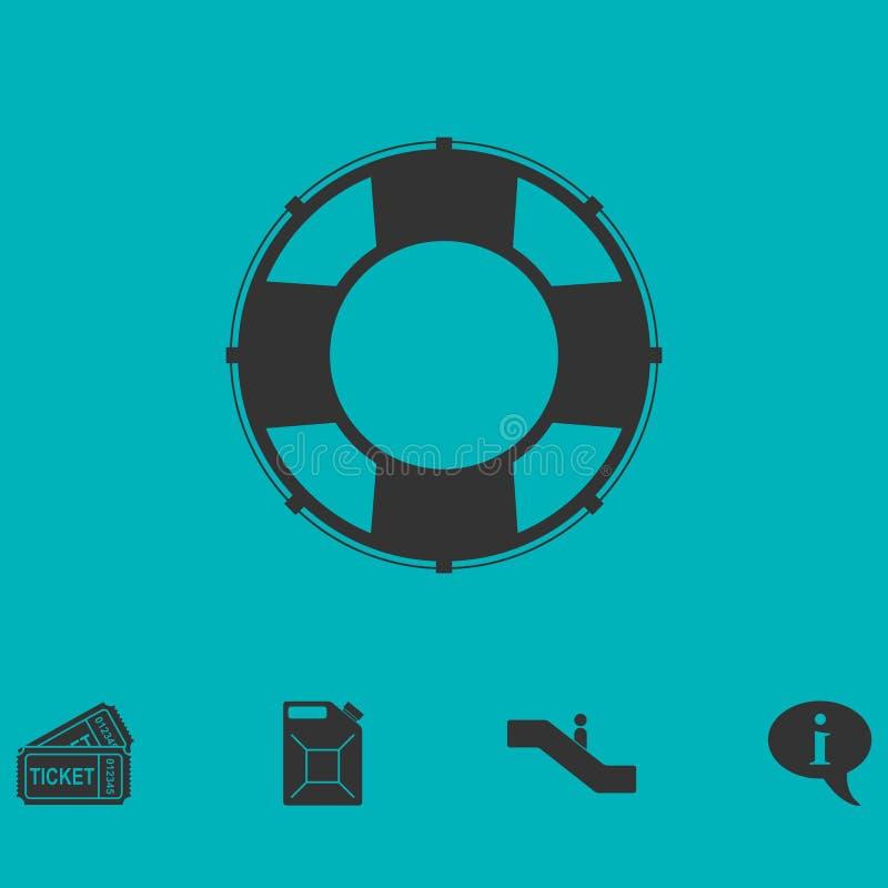 Lifebuoys ikony mieszkanie ilustracji