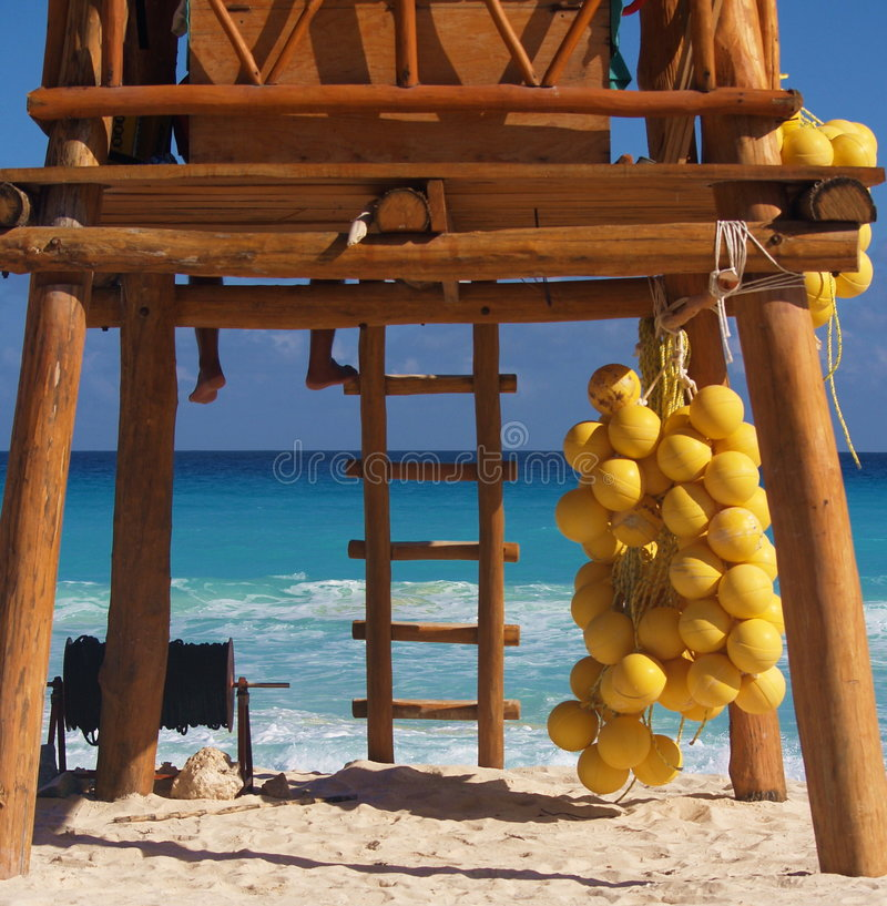 lifegua μπαμπού cancun τροπικό στοκ φωτογραφία