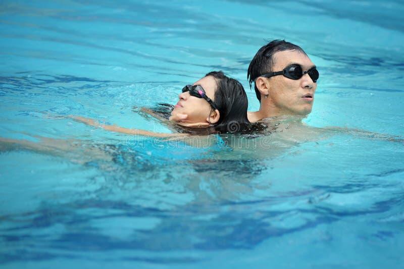 lifeguard κολύμβηση λιμνών στοκ φωτογραφίες