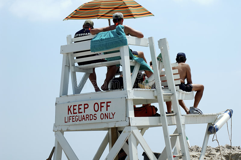 Lifeguard στάση Εκδοτική Φωτογραφία