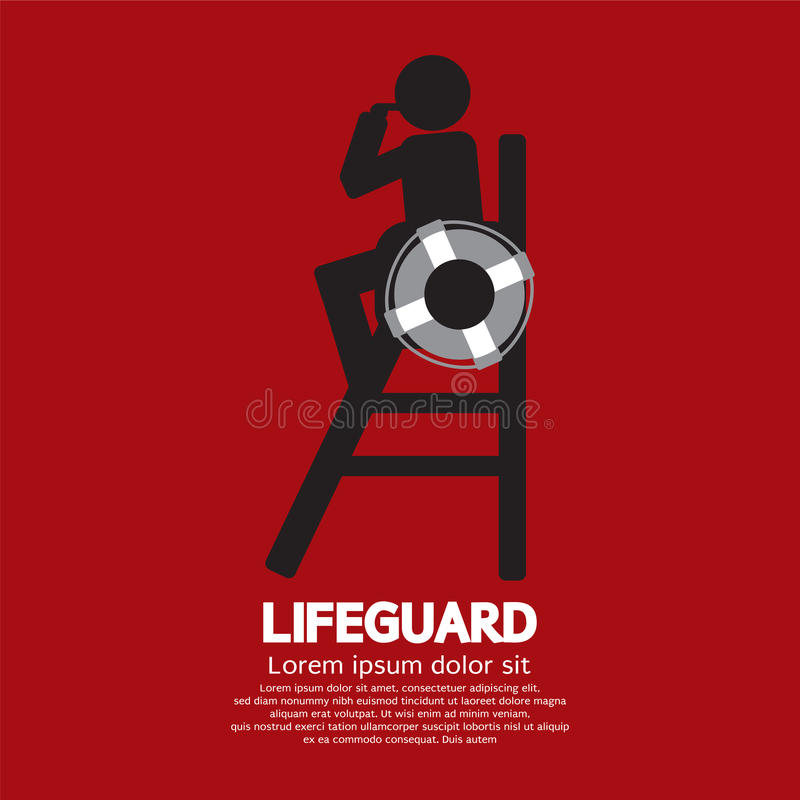 lifeguard stock illustratie
