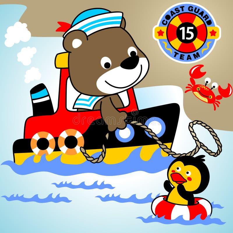 Lifeguard royalty free illustration
