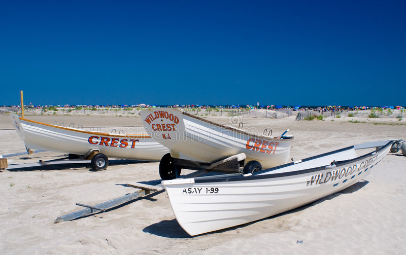 Download Lifeguard boats stock image. Image of shore, beach, wildwood - 5986395