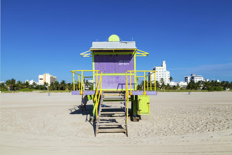 Download Lifeguard Cabin On Empty Beach, Stock Photo - Image: 32939232