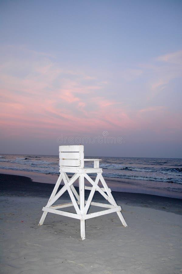 Free Lifeguard Chair At Beach Royalty Free Stock Photos - 528588