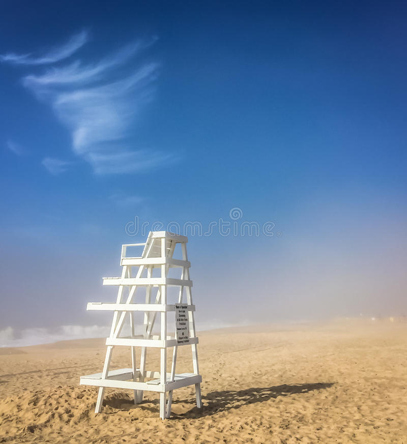 Free Lifeguard Chair, East Hampton, NY Stock Photo - 81660360