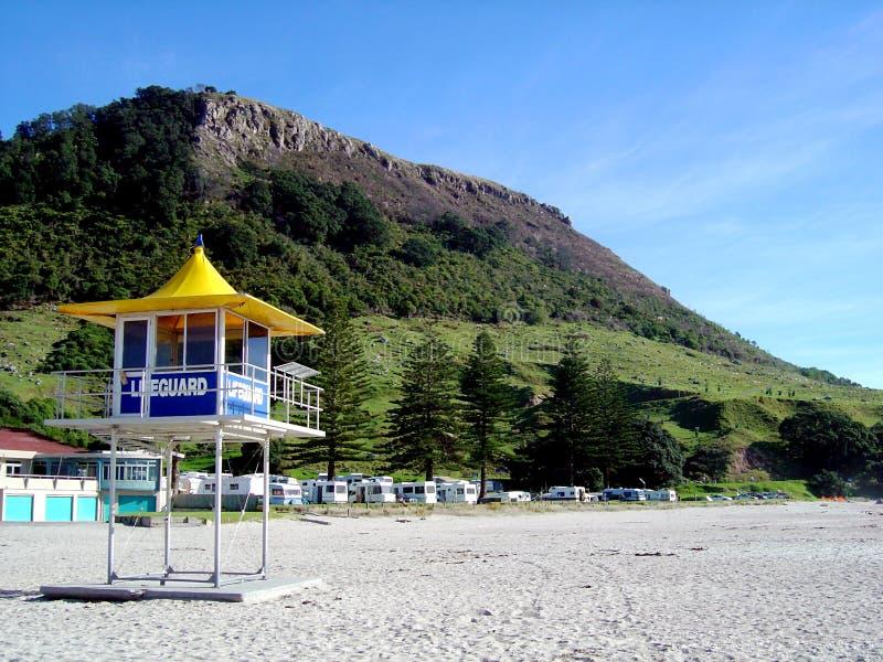 Lifeguard de Maunganui da montagem imagem de stock royalty free