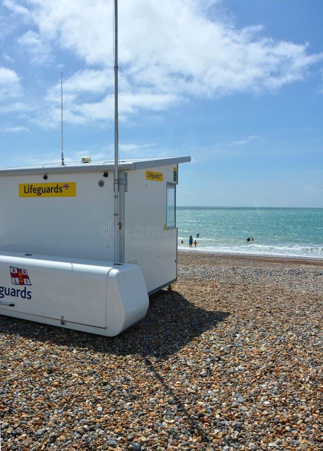 lifeguard De structuur van de strandobservatie stock foto