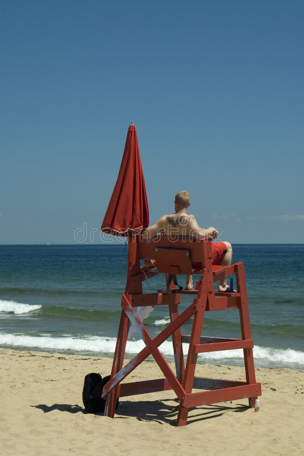 Lifeguard on duty royalty free stock photo
