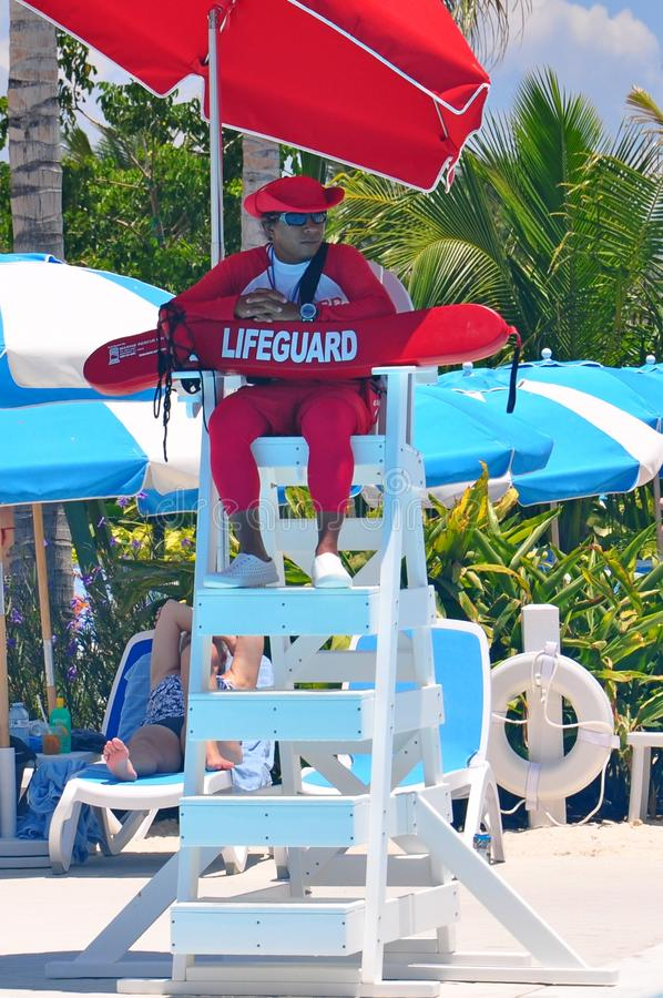 Lifeguard on duty stock photography