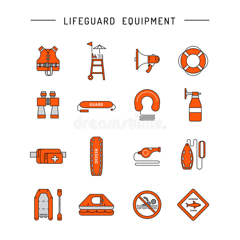 Free Lifeguard Flat Outline Icon Stock Photography - 86575222