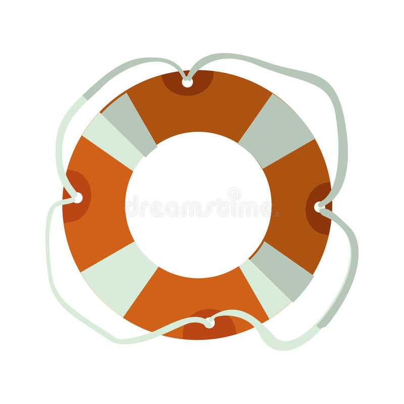 Lifeguard float icon. Over white background. summer vacation design. vector illustration royalty free illustration
