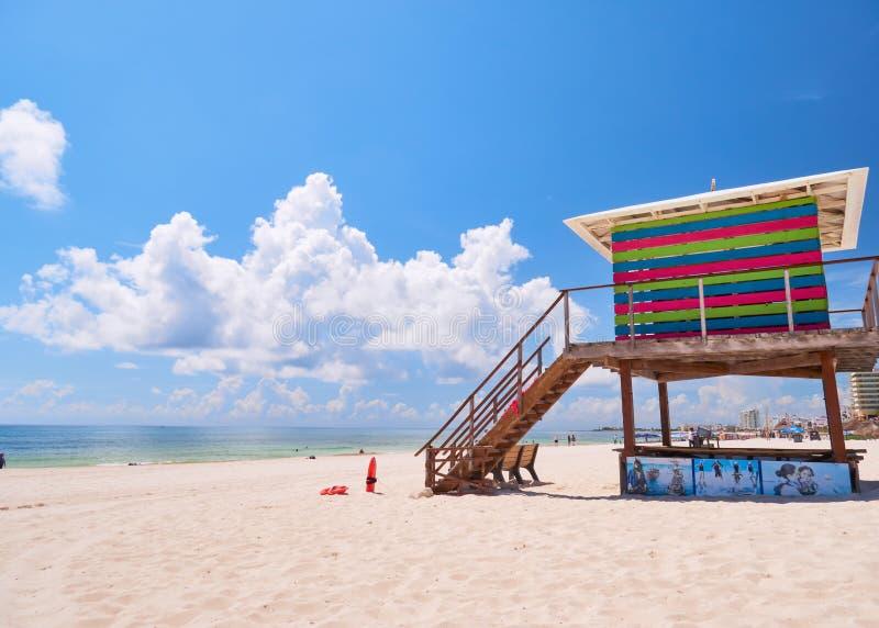 Lifeguard House of Caribbean beach royalty free stock photo