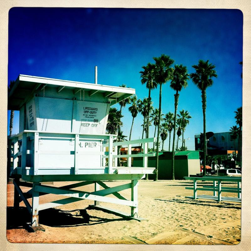 Lifeguard house LA stock photography