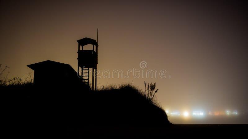 Lifeguard na plaży La Lanzada, Galicja obrazy stock
