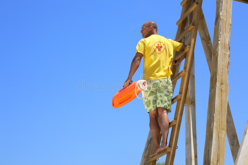 Lifeguard no dever fotografia de stock royalty free