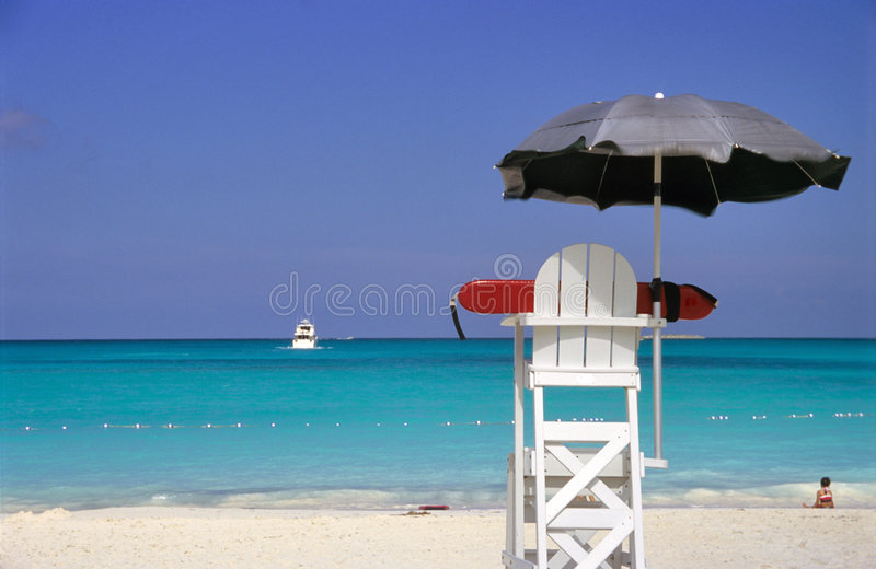 Lifeguard Off Duty stock photography