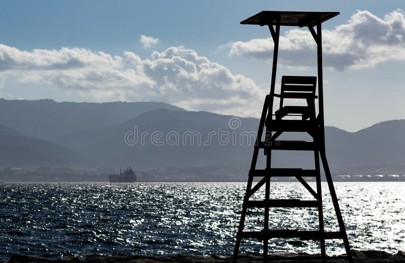 Lifeguard Post Camp Bay. Lifeguard post in camp bay ready for the summer beach season royalty free stock photos