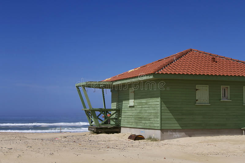 Lifeguard post. An image of a lifeguard post in the beach royalty free stock photography