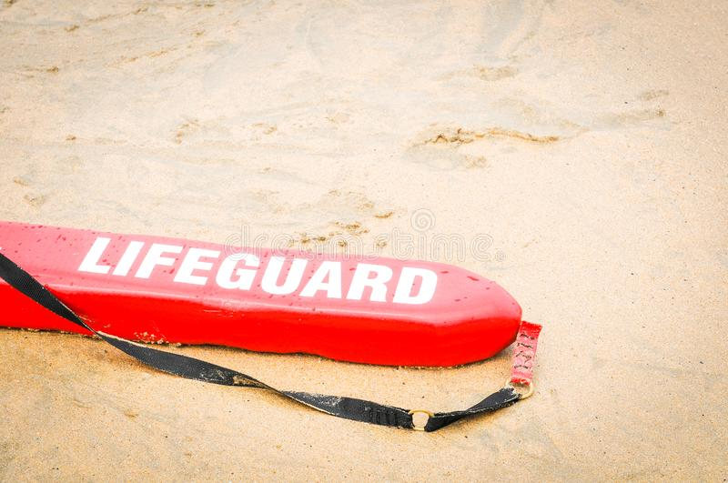 Lifeguard red board. On the beach of Fistral, Cornwall, England royalty free stock photos