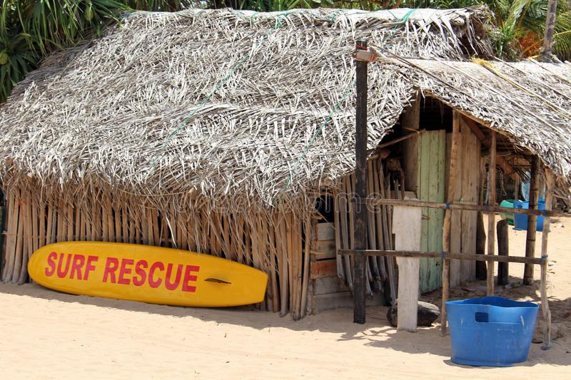The lifeguard shack of Nilaveli beach in Trincomalee. Taken in Sri Lanka, August 2018 royalty free stock photos