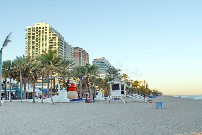 Lifeguard stand on Fort Lauderdale Beach royalty free stock image